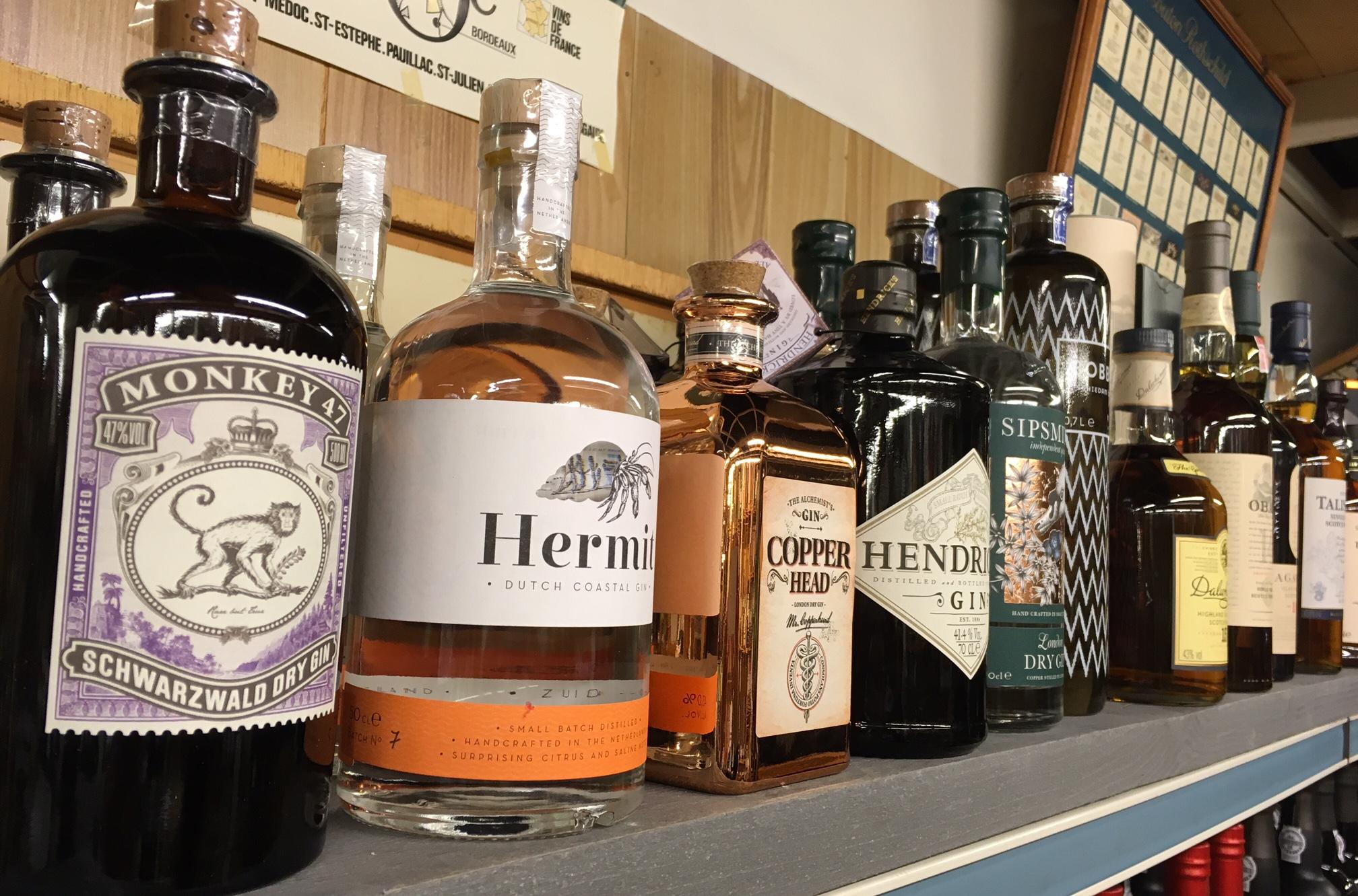 monkey 47, hermit, gin, copperhead, hendrick